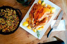 Pomegranate-Brined Roast Turkey: A good overnight brining helps a ...