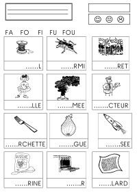 Syllabes avec f - Nell Oa. Read In French, Study French, Learn French, French Language Lessons, French Lessons, Ways Of Learning, Early Learning, English French Dictionary, Autism Education