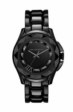 Karl Lagerfeld Karl 7 Black Mens Bracelet Watch, Gunmetal Buy for: House of Fraser Currently Offers: Karl Lagerfeld Karl 7 Black Mens Bracelet Watch, Gunmetal from Store Category: Accessories > Watches > Men's Watches for just: Stainless Steel Jewelry, Stainless Steel Watch, Punk, Karl Lagerfeld Watches, Black Face Watch, Fashion Magazin, Trends, Quartz Watch, Watches For Men