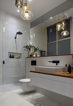 The Block Glasshouse: Large mirror from shower through to wall rather than just above vanity