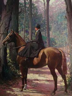 Francis Garvan on her hunter Alert George Ford Morris Artist Horse Portrait, Portrait Art, Pet Portraits, Pencil Portrait, Painted Horses, Medieval, Horse Posters, Vintage Horse, Horse Drawings