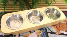 Designed Pet Bowl     Hand made Raised Cat/ by WoodyToolWorks, $29.50