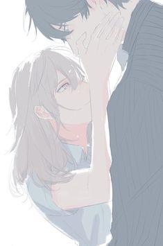 Art by 阿 叮 叮 anime i 2019 anime couples drawings, anime art Anime Couples Drawings, Anime Couples Manga, Couple Drawings, Cute Anime Couples, Manga Anime, Manga Couple, Anime Love Couple, Couple Art, Girls Anime