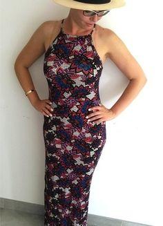 Maxi sukienka ołówkowa w kwiaty rozm. 38 Primark