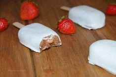 Helados saludables de chocolate ¡sin chocolate! con 2 ingredientes - Magnum veganos de algarroba y plátano - Antojo en tu cocina