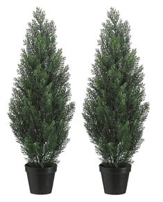 Set Of 2 Pre-potted 3 Foot Artificial Cedar Topiary Outdoor Indoor Trees Set of 2 Cedar trees offer the ease and longevity of an artificial tree with realistic Porch Topiary, Porch Trees, Outdoor Topiary, Topiary Trees, Potted Trees, Topiaries, Potted Plants, Artificial Topiary, Artificial Plants And Trees
