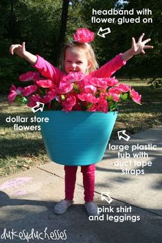 DIY Flower Pot Costume | Last Minute Halloween Costumes For Kids