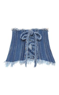 Denim Corset Belt by PHILOSOPHY DI LORENZO SERAFINI for Preorder on Moda Operandi