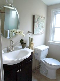 It doesn't cost a lot of money to stage your bathroom. We did this bath quickly and inexpensively and it sold fast!