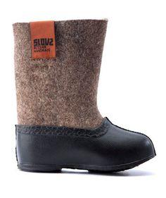 brown kids Slovz boots x