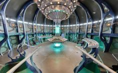 This interior of the new Tardis is so good, sort of thing I was thinking for my studio set.
