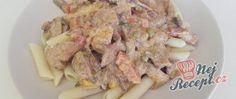Recept Vepřové nudličky s žampiony na smetaně Meat, Chicken, Cubs