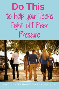 Pin Now! Teenager Peer Pressure is present in every teenager's life. There are things we need to talk with our teens about when it comes to the peer pressure they face. #teen #teenagerproblems #peers #peerpressure #parenting