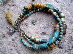 Bohemian Bracelet \/ Gypsy Jewelry \/ Ethnic Bracelet \/ by Gypsy Bracelet, Tassel Bracelet, Bohemian Bracelets, Bohemian Jewelry, Handmade Bracelets, Handmade Jewelry, Beaded Necklace, Beaded Bracelets, Diy Jewelry