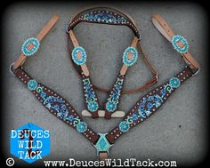 Turquoise Pistols Tack Set Me personally, I would get this all in light oil. It's still very stunning though.