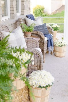 Early Fall Front Porch - A Burst of Beautiful