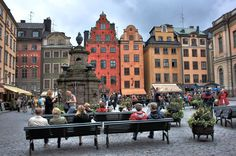 Stortorget square - Stockholm, This is one of my happy places! Amazing Places On Earth, Places Around The World, Oh The Places You'll Go, Travel Around The World, Places To Travel, Places To Visit, Around The Worlds, Sweden Stockholm, Stockholm Old Town