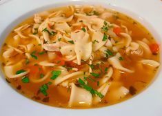 My Hearty Chicken Noodle Soup is a snap to make! Hearty Chicken Noodle Soup Recipe, Chicken Noodle Soup Ingredients, Cup Of Soup, Leftover Rotisserie Chicken, Poached Chicken, Celery Rib, Side Salad, How To Cook Chicken, A Food