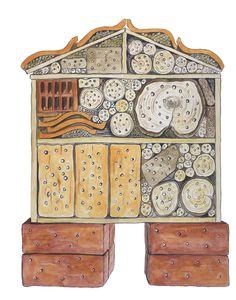 Bijenhotel Wild Bees, Bug Hotel, Bee House, Garden Bugs, Aquaponics, Bee Keeping, Bird Houses, Garden Inspiration, Ladybug