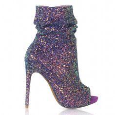Violet Spotlight Open Toe Ankle Boot