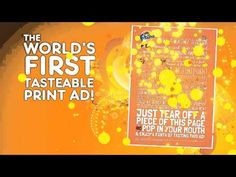 The World's First Tasteable Print Ad for Fanta new flavor. A creative innovation for print ad. Movie Magazine, Magazine Ads, Print Ads, Poster Prints, Creative Advertising, Advertising Ideas, Edible Printing, Digital Campaign, Street Marketing