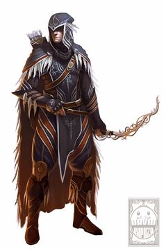 Combined the traditional high fantasy elf with a more native American one