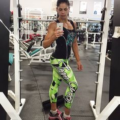 @katzmeow91 showing off her new @teamgreenphysiques geometric leggings designed by @maximumnutritioncentres #leggings #muscle #fitnation #fitness #fitspo #fitnessaddict #fitnessmotivation #fitnessmodel #workout #gym #train #grind #sweat #lifestyle #bodybuilding