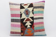 16x16 Hand Woven wool tribal ethnic patchwork  Kilim Pillow cushion 1312 Unique pillow