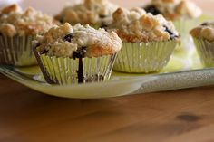 Browned Butter Fresh Blueberry Muffins - Made these for breakfast this morning and they are pretty good!
