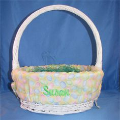Personalized Easter Basket Liner with Name  by EmbroideryStation1, $20.00