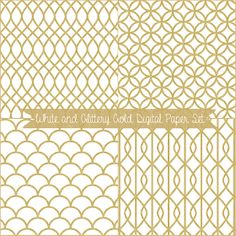 Just Peachy Designs: Free White and Glittery Gold Digital Paper Set