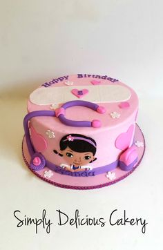 #docmcstuffins #buttercream #fondantaccents #birthdaycake #girly
