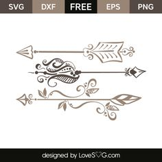 *** FREE SVG CUT FILE for Cricut, Silhouette and more *** Arrows elements