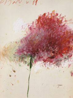 Cy Twombly came out of New York in the kind of like any other artist. He creates his art pieces abstract. Twombly works more with painting, but his name is on the drawing list. Art And Illustration, Abstract Expressionism, Abstract Art, Art Amour, Arte Floral, Fine Art, Art Design, Oeuvre D'art, Painting & Drawing