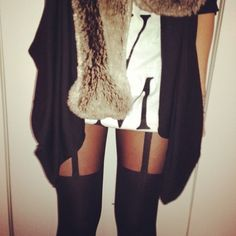 tans stockings and fur