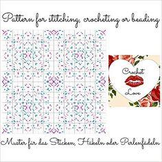 Flower Dream: Pattern for stitching, crocheting or beading - Muster für das Sticken, Häkeln oder Perlenfädeln