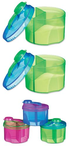 Munchkin Powdered Formula Dispenser, Colors May Vary - It's easy to be ready to feed your baby on the spot, even when you're on the go. Our colorful 3 - section single serving containers let you do just that. Simply pour a section of your pre - measur... - Formula Dispensers & Mixers - Baby$1.49