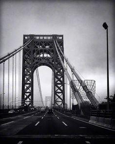 """Architecture Photo, NYC photos, George Washington Bridge, black & white, 8x10"""" print. $30.00, via Etsy."""