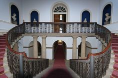 visit Wentworth Woodhouse tour Pillared hall staircase