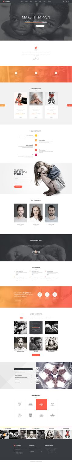 PSD template, designed for a non-profit organization or a charity company.