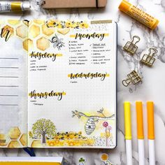Bee Bullet Journal Spreads! | My Inner Creative
