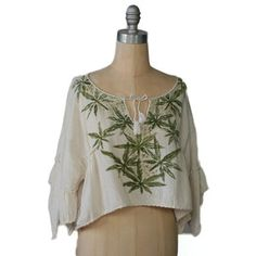 Hemp Crop Top, now featured on Fab. Dope Fashion, High Fashion, Fashion Beauty, Fashion Looks, Sunshine In My Pocket, Haute Couture Style, Types Of Fashion Styles, Vintage Outfits, Vintage Clothing
