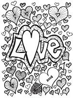 Abstract Doodles: Free Valentine Images to Color