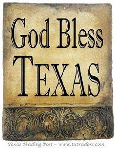 Hand Cast Stone - God Bless Texas -  Made in Texas by Texans