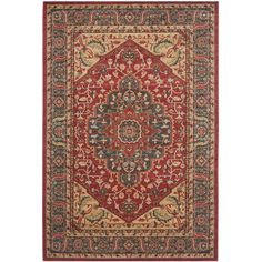 Found it at Wayfair - Mahal Navy/Red Area Rug