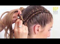 Trenza Mexicana Tricolor | Peinados para el 15 y 16 de septiembre | Viriyuemoon - YouTube #peinadosde15