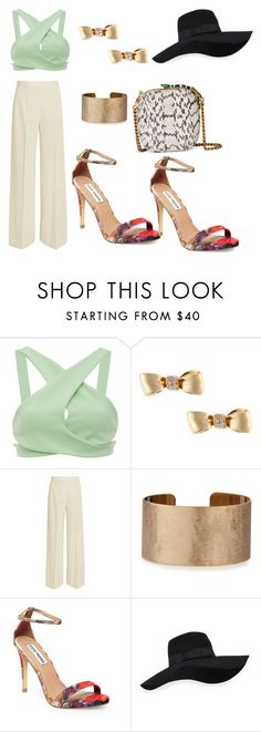 """Untitled #1814"" by loveparis7 ❤ liked on Polyvore featuring Christina Economou, Mimi So, STELLA McCARTNEY, Panacea, Steve Madden, San Diego Hat Co. and Gucci"