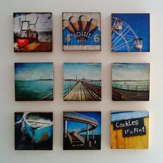 little canvas photos on wall