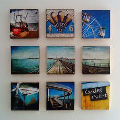little canvas photos on wall