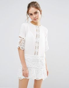 lace insert dress from ASOS
